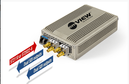 emVIEW and emFUSION now capable of transporting two HDMI signals and four SDI signals