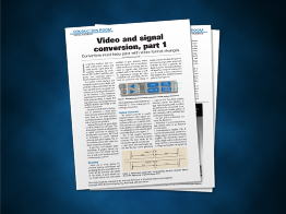 Video and signal conversion, part 1